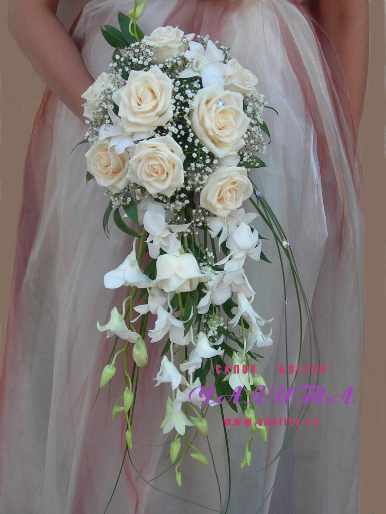 Пионовидных, свадебные букеты хвостом